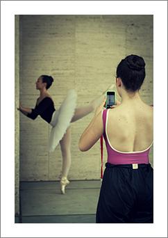 icona ballerine e selfie daniele garofalo